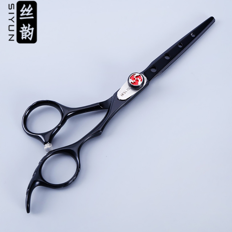 New arrival product,black color and special blade design 6.0 inch professional hair scisssors