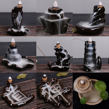 Новые поршневые горелки ладана Ретро каменная мельница рефлюкс буддийские Бусы из сандалового дерева украшения