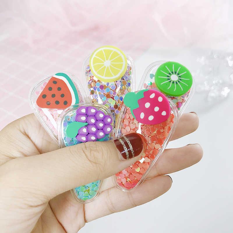 Новое платье для девочек милые разноцветные блестки фруктов прозрачная заколки детские заколки для волос повязки для волос заколки Головные уборы Детские аксессуары для волос