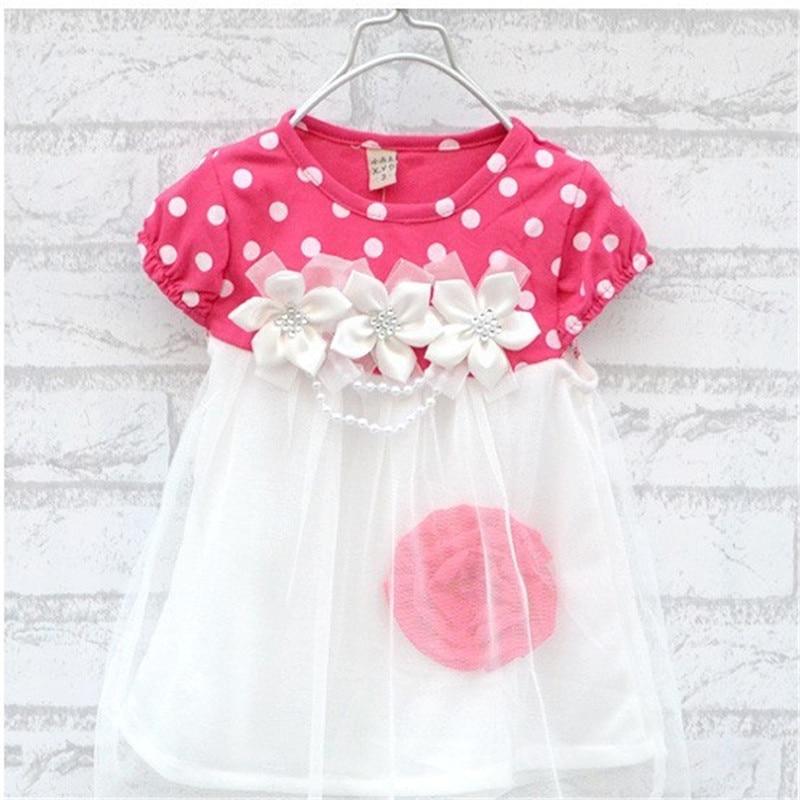 9eb4589158d3 2016 new 0 2 baby sweet cotton dress beautiful flower dress baby child  short sleeved summer Princess gauze dress on Aliexpress.com