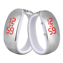 Ladies Sports Watches LED Glossy Plating Waterproof Bracelet Wrist Watch Fashion Casual Digital Women Watches Wholesale 30A25