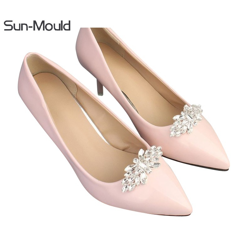 1pair NEW shoes flower charms bridal high-heel pumps accessories crystal diamond shoe clips Fashion wedding decoration buckle aidocrystal new handmade crystal wedding shoes high heel rhinestone bridal shoes performance shoes flower women pumps decoration