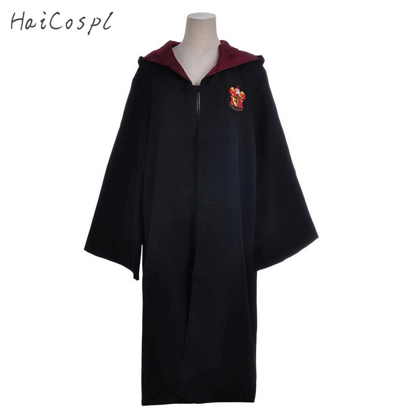 Gryffindor/Slytherin/Hufflepuff/Ravenclaw Cosplay Costumes Adults or Kid Robe Cloak Women Men Party School Uniform Plus Size XXL