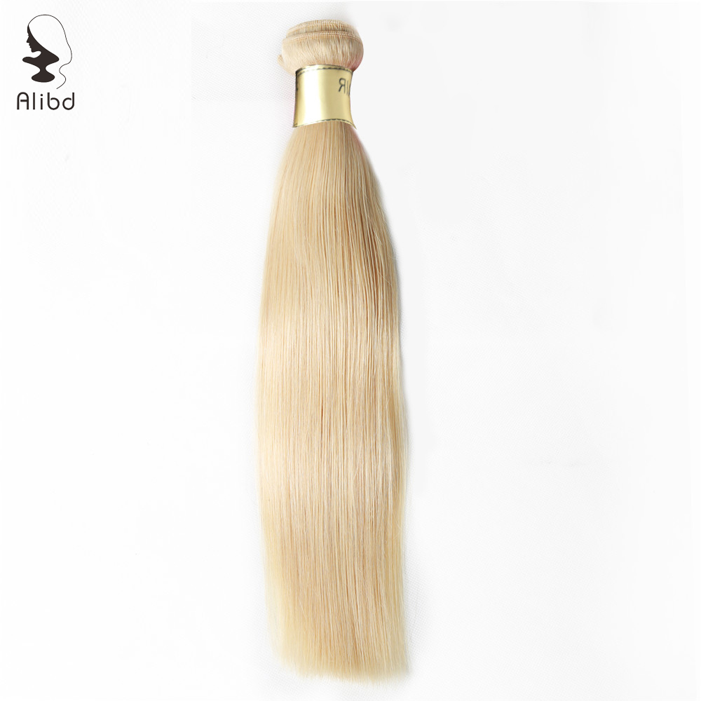 Alibd #613 Blonde Color Straight Human Hair Bundles 1pc/lot Brazilian Virgin Hair Weaves Bundle Free Shipping