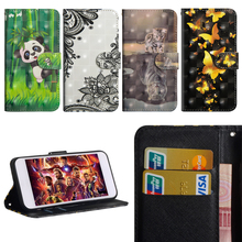 Luxury Flip Leather Case For LG K10 2017 Cover 3D Painted Wallet Card Slot Silicone Cover For LG K10 2017 X400 M250 M250N LG LV5 смартфон lg k10 2017 m250 gold