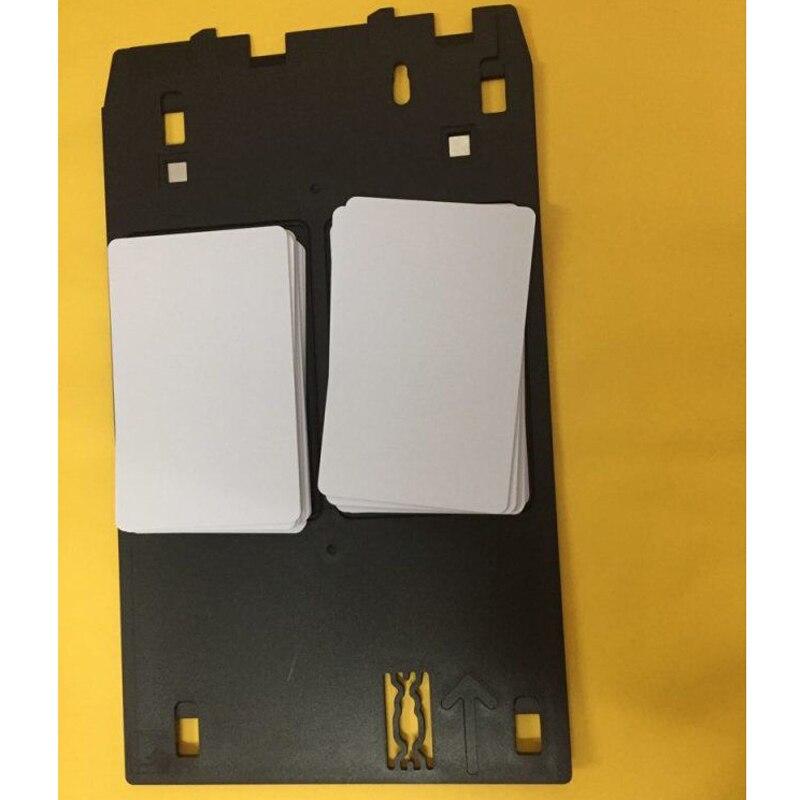20 Pcs PVC Cartão de IDENTIFICAÇÃO + J tipo PVC ID Card Bandeja Para Canon iP7250 iP7240 iP7270 MG7510 MG7520 MG7540 MG7550 MG7770 MX922 MX923 MX924