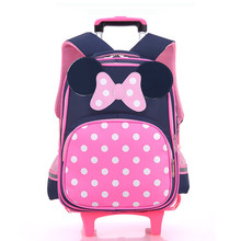 2017 Cartoon Design Children's School Backpacks Detachable Backpack For Girls Pretty Trolley Kids Bags Princess Style