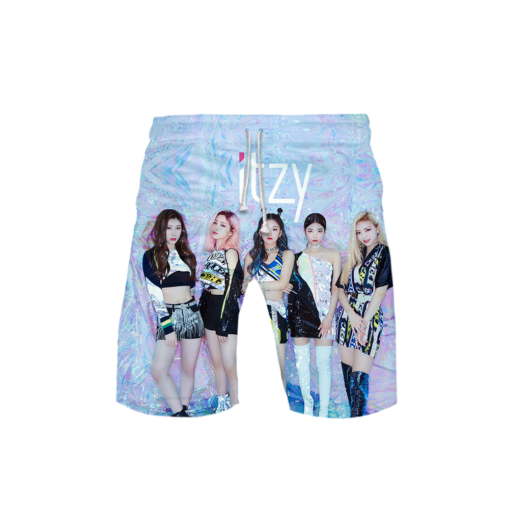 ITZY YUNA RYUJIN CHAERYEONG LIA YEJI Ball Pants Boys Kakarot Shorts Pants Leisure Print Casual Men's Shorts Novelty Top