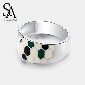 Image 5 - SA SILVERAGE แท้ Medusa Series 925 เงินสเตอร์ลิง Engagemant งานแต่งงานแหวนเงิน 925 สีชุบแหวนผู้หญิงเครื่องประดับ