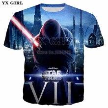 YX Girl 2018 New Summer Tops 3d Print Mens Star Wars T shirt Men Tshirt Short Sleeve O-neck Tees Male Funny Streetwear Tshirts