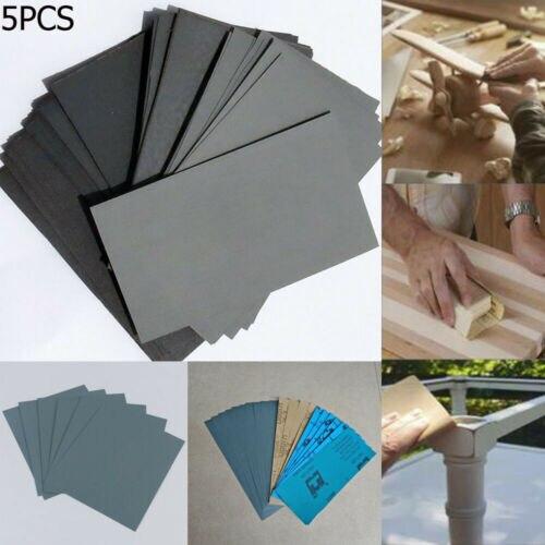 5PCS High Grit Wet Dry Sandpaper 80-8000 Grit Abrasive Sand Polish Paper For Car Paint Auto Body Aut Paint Supplies