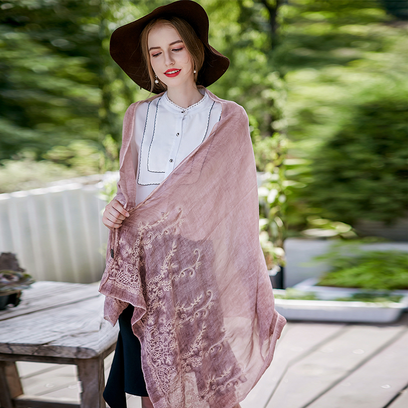 UACY 85*180 Women Scarf Spring autumn models Lace Cotton and linen 2018 explosion models Fashion woman Scarves