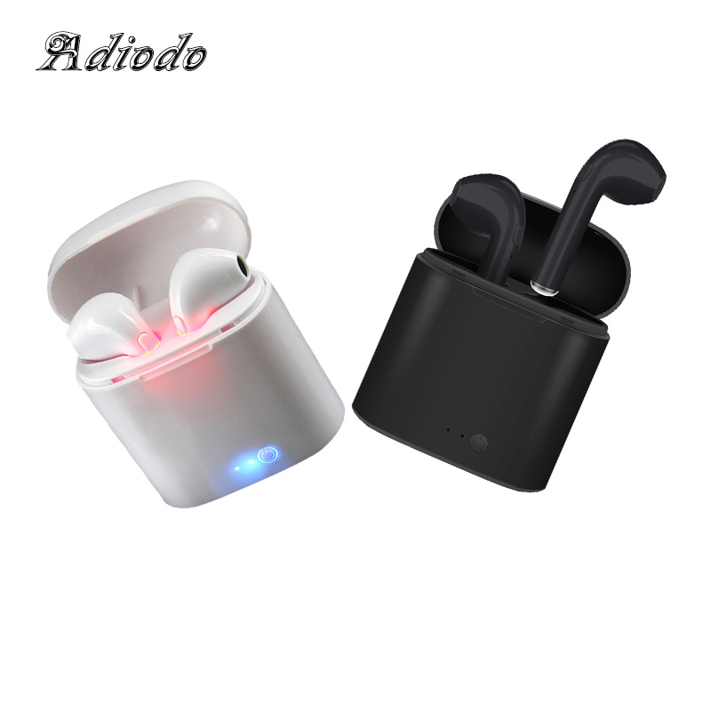 i7S TWS Ture Wireless Bluetooth Earphones Headset Earbuds earphone With Microphone headphones earphone for iphone Android bluetooth headphones wireless earphones stereo bass headset earbuds foldable sport earphone with microphone mp3 player