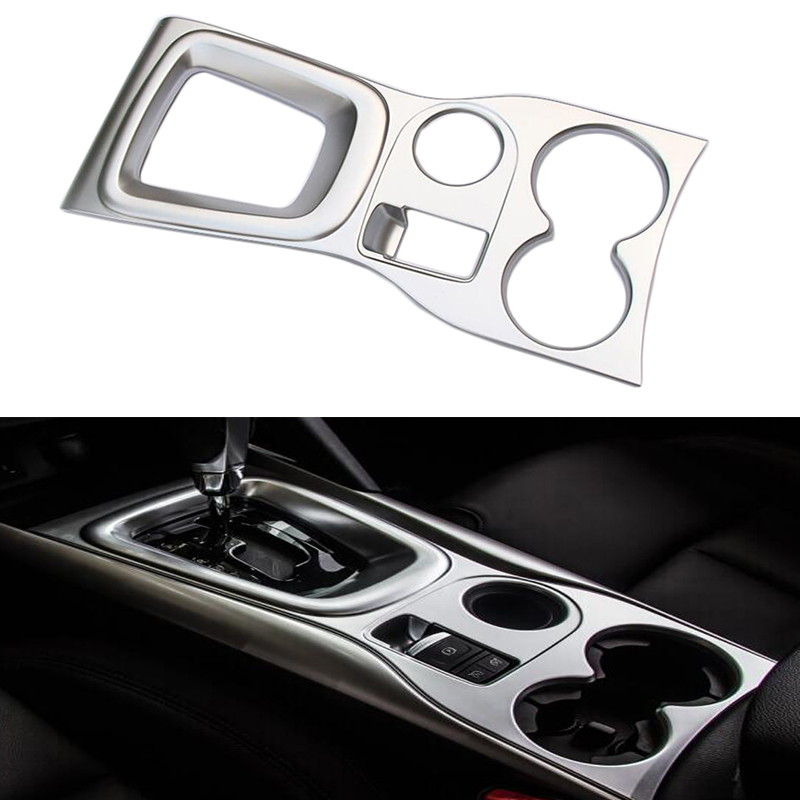 Interior ABS Chrome Stick Gear Shift Level Platform Water Cup Holder Accessory Trim For Renault Kadjar 2015 2016 2017 LHD motorbike front