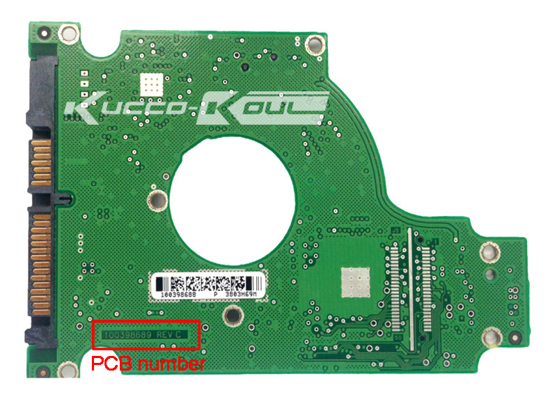 hard drive parts PCB logic board printed circuit board 100398689 for Seagate 2.5 SATA hdd data recovery hard drive repair