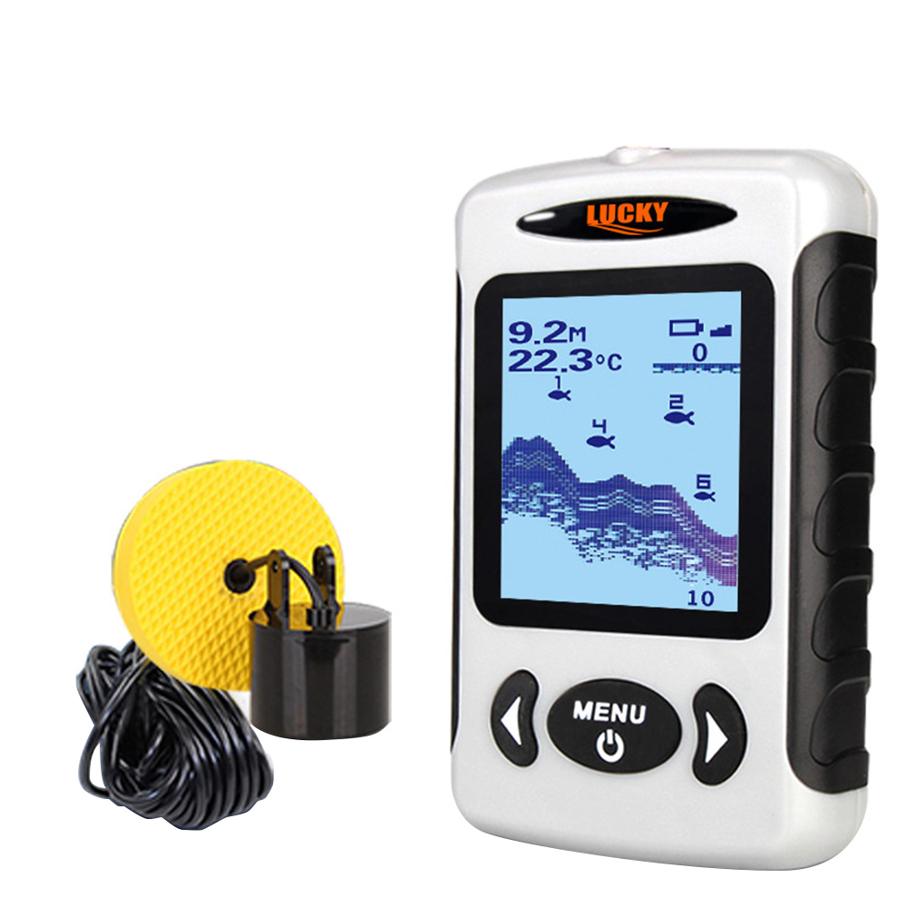 FF718 Fish Finder Wired Sonar Sensor Transducer Detector for Fishing lucky ff718 licd