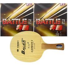 Original Pro Table Tennis/ PingPong Combo Racket: Galaxy Yinhe T-11+ with 2x RITC729 Battle II (Tacky) Long Shakehand FL(China)