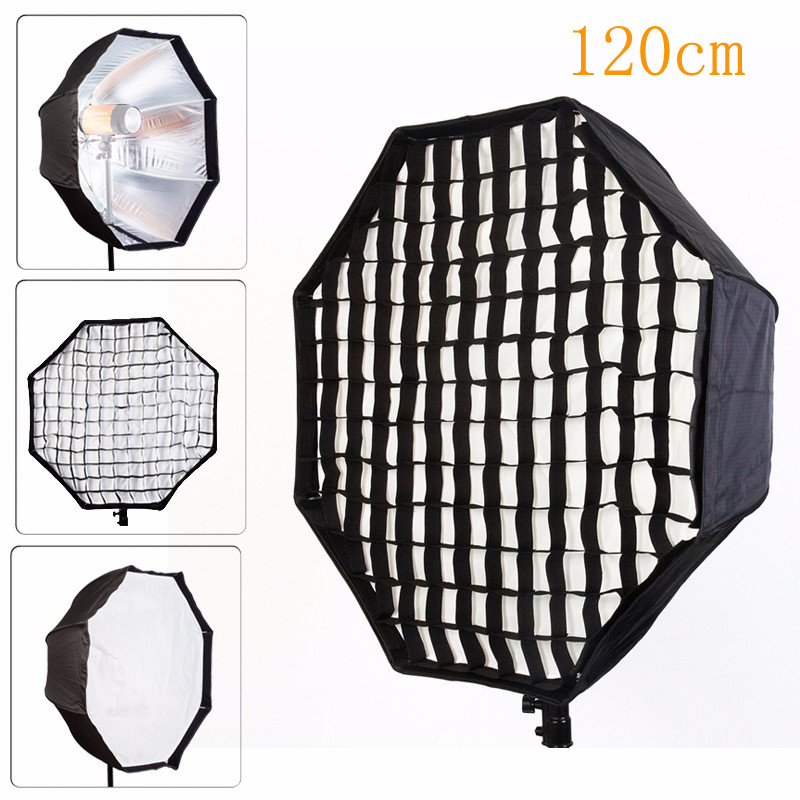 Photo Studio 120cm Octagon Umbrella Softbox Diffuser Reflector Grid Honeycomb Photography Soft Box Light Box for