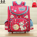 good Quality Children Orthopedic School Bags 2017 Girl lovely cat butterfly Backpack Kids Waterproof Knapsack mochila infantil