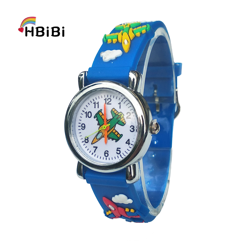 Cartoon Aircraft Lovely Kids Watches For Girls Boys Gift Clock Children Students Watch Very Popular Airplane Style Child Watch