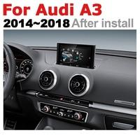 "hd מסך 7"" HD Pop up מסך סטריאו אנדרואיד רכב GPS Navi מפה אאודי A3 8V 2014 ~ 2018 MMI מקורי סגנון נגן מולטימדיה לרכב רדיו (2)"