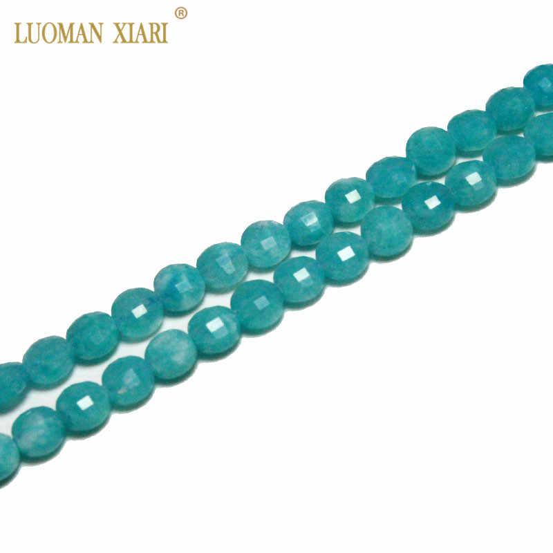 Grzywny AAA 100% naturalne Faceted lazuryt turmalin kryształ agat Jade kamień koraliki do tworzenia biżuterii DIY bransoletka naszyjnik