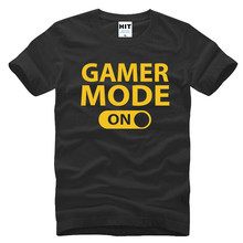 2017 Casual Gamer Mode ON Funny Personality Customized Mens Men T Shirt Tshirt Short Sleeve Cotton T-shirt Tee Camisetas Hombre