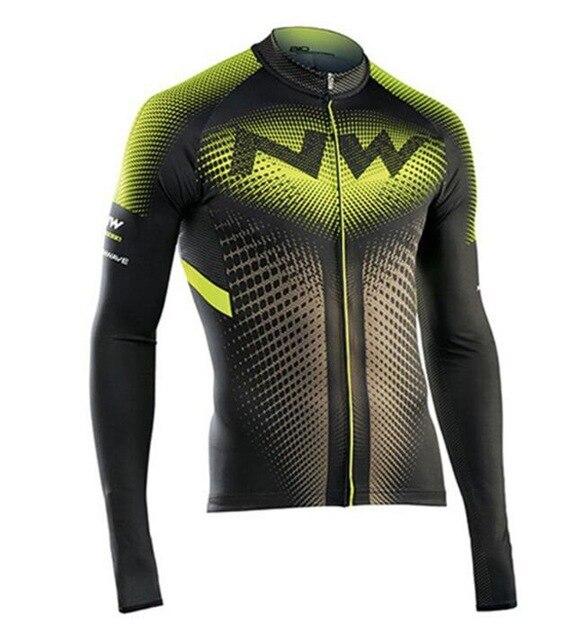 2018 NW Hommes de Nouveau Printemps/Automne Manches Longues Vélo Jersey Respirant VTT Vélo Vêtements Vélo Vêtements Ropa Ciclismo Maillot