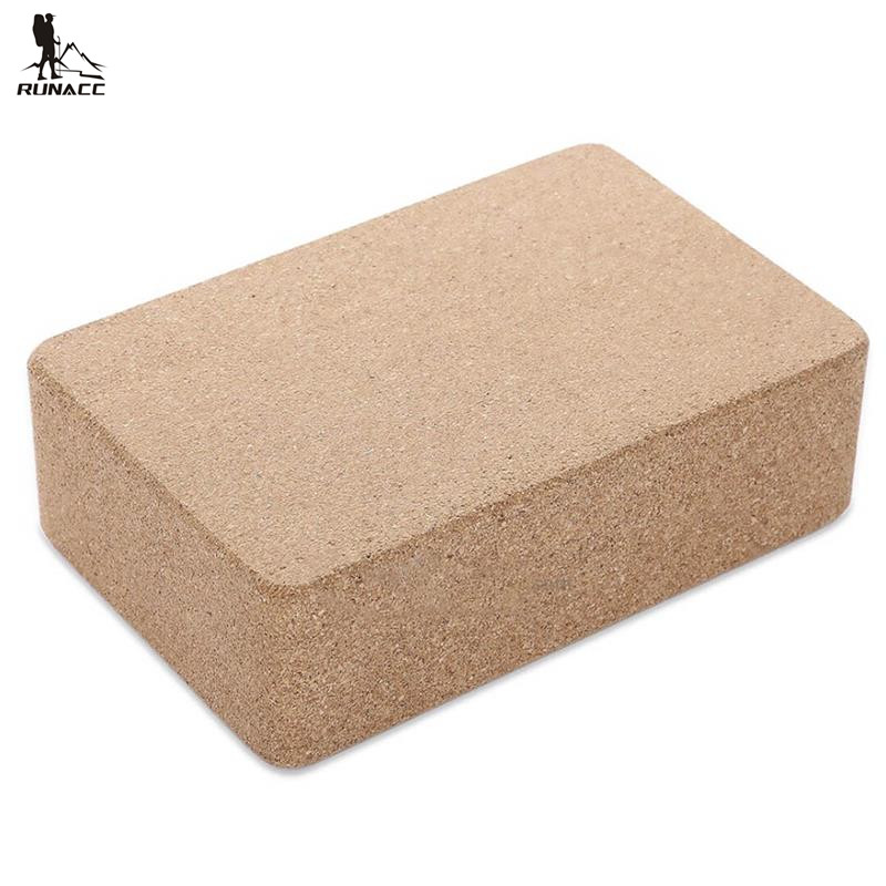 RUNACC Eco-Friendly Cork Yoga Block Lightweight Natural Yoga Brick Moisture-Proof Cork Wood Yoga Block Wood Color  yoga block wooden | Hugger Mugger Wooden Yoga Block RUNACC Eco Friendly Cork font b Yoga b font font b Block b font Lightweight Natural