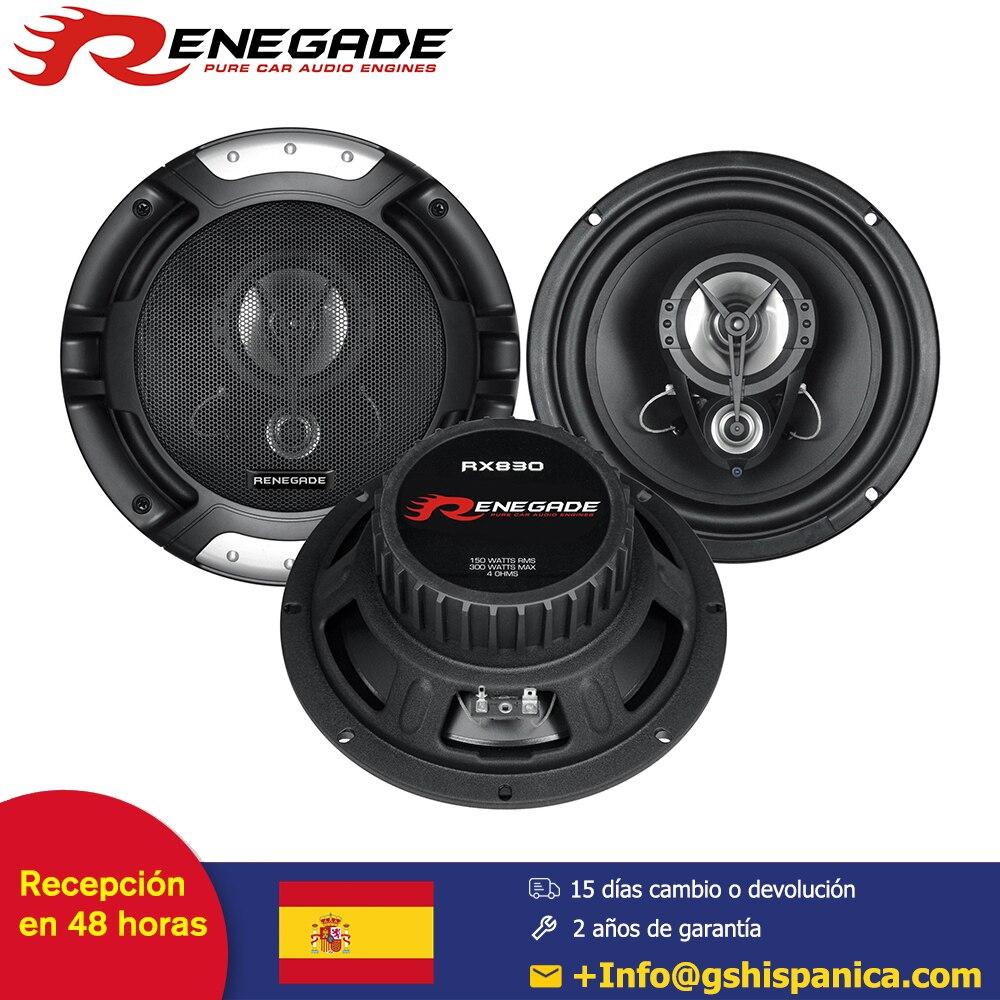 RENEGADE Altavoz système Triax de voiture 20cm haut-parleur Triaxial Poly cône aimant botte avec Grilles puissance 150/300 Watts