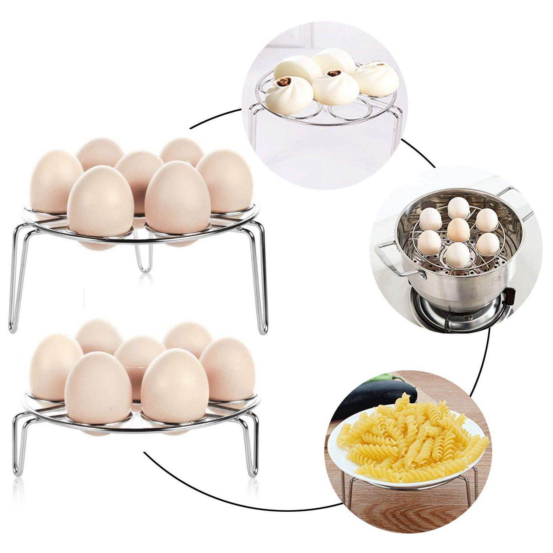 2PC 7 Egg <font><b>Steamer</b></font> Rack Holder For Cookin
