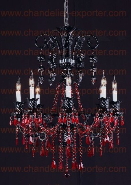 Aliexpress buy black crystal chandeliers with red crystal black crystal chandeliers with red crystal beadsblack chandeliercrystal chandelier free shipping aloadofball Image collections