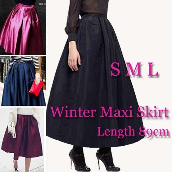 054e7f44bdcb6 Vintage Ankle-Length Long Maxi Skirt High Waist Skirts Womens Pleated Skort  Fall Winter Saia