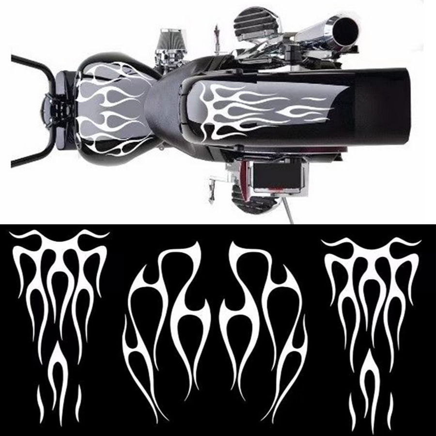 Motorcycle Flame Gas Tank Decals Stickers For Honda Shadow Vt750 Universal Smartautotasev