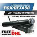 PGX PGX24 BETA58 УВЧ Беспроводной Микрофон Система БЕТА Супер Кардиоидный Ручной Микрофон Караоке Sound! FreeShipping По DHL!