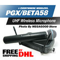 PGX PGX24 BETA58 UHF Wireless Microphone System BETA Super Cardioid Handheld Microfone Karaoke Clear Sound! FreeShipping By DHL!