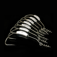 Carbon Steel Fishing Hooks for Soft Fishing Baits 5 pcs Set