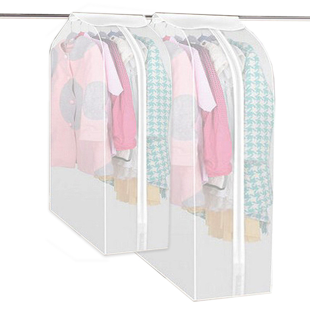 Garment Dress Suit Coat Dust Cover Protector Wardrobe Storage Bag Vacuum Bags For Clothes