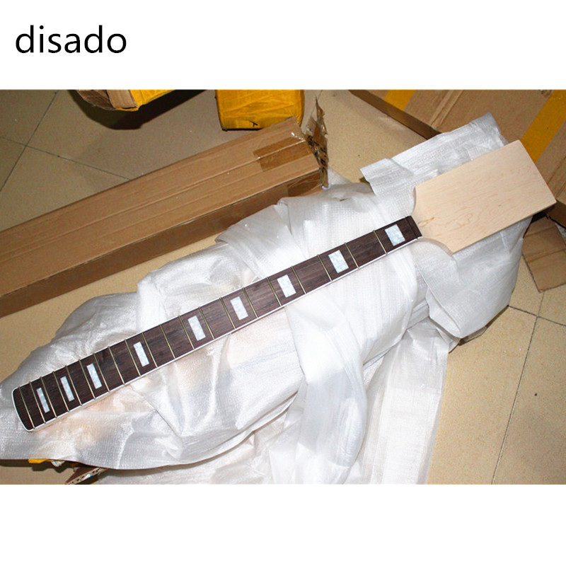 disado 20 Frets Maple Electric bass Guitar Neck Rosewood fingerboard Wholesale Guitar accessories musical instruments Parts disado 24 frets inlay dots maple electric guitar neck maple fingerboard wood color black headstock guitar accessories parts