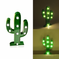 8 Leds Cactus Sign 3D Figure Night Light LED Nightlight Desk Night Lamp For Kids Gift Decoration MY3