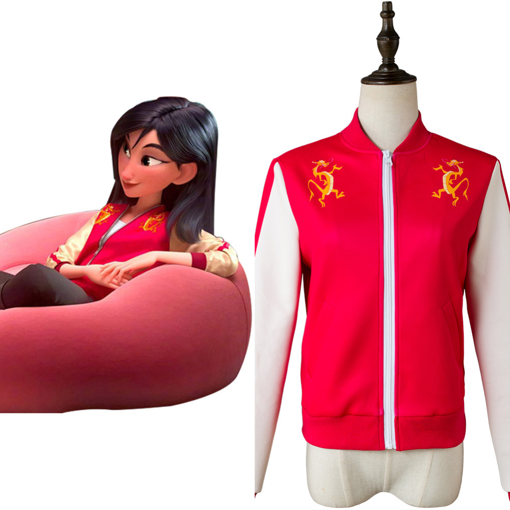 Ralph Breaks the Internet: Wreck-It Ralph 2 Cosplay Costume Jacket Princess Mulan Zipper Jacket Print Coat Halloween Costumes