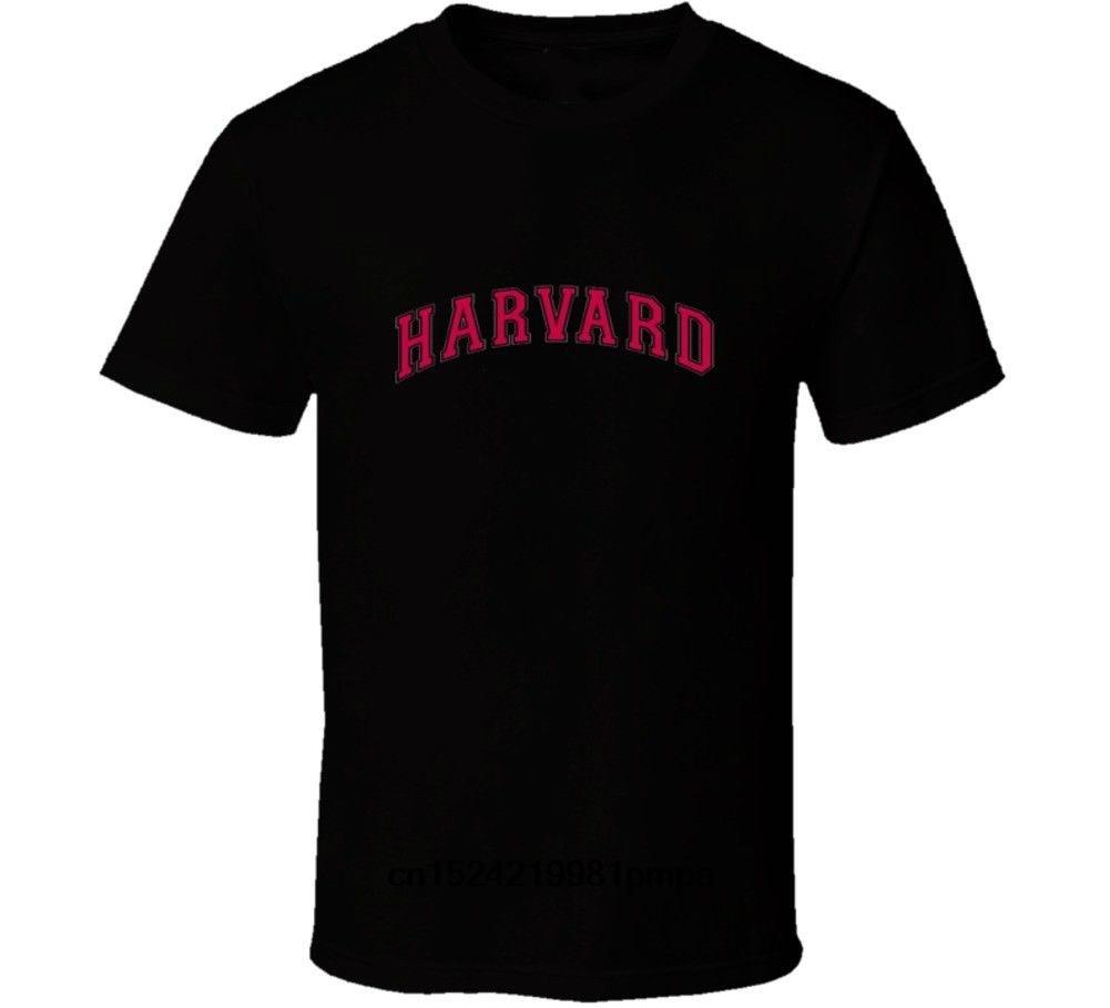 bfaaa58a Harvard University Fashion Short Printed Funny Cotton T-shirt Men Tops  Funny Tee