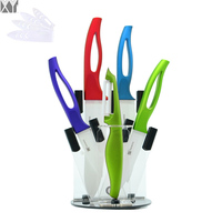 XYJ Brand Eco Friendly Acrylic Kitchen Knife Stand High Grade Accessories And Four Piece Ceramic Knife