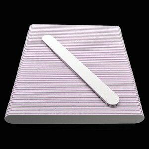 Image 5 - 100 個のプロフェッショナルネイルファイルバッファーバ 100/180 UV イルジェルポリッシャードライヤー紙やすりマニキュアペディキュアマニキュアアートツール