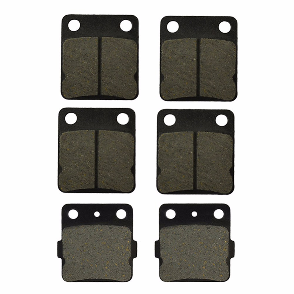 Motorcycle Front and Rear Brake Pads for YAMAHA ATV YFM 350 YFM350 Warrior 1989-2004 Black Brake Disc Pad motorcycle front and rear brake pads for yamaha fzr 400 r fzr400r 1989 brake disc pad