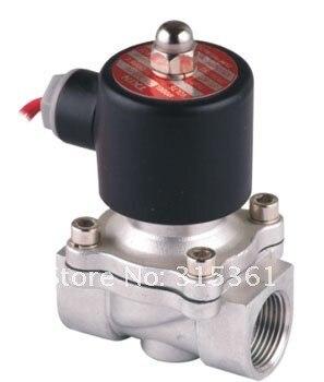 """5 шт. 3/"""" 20 мм нержавеющая сталь электромагнитный клапан нормально закрытый 2Way VITON масло кислоты DC24V"""