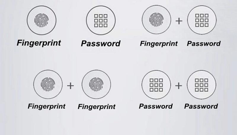 Fingerprint Password Combination Smart Lock 8