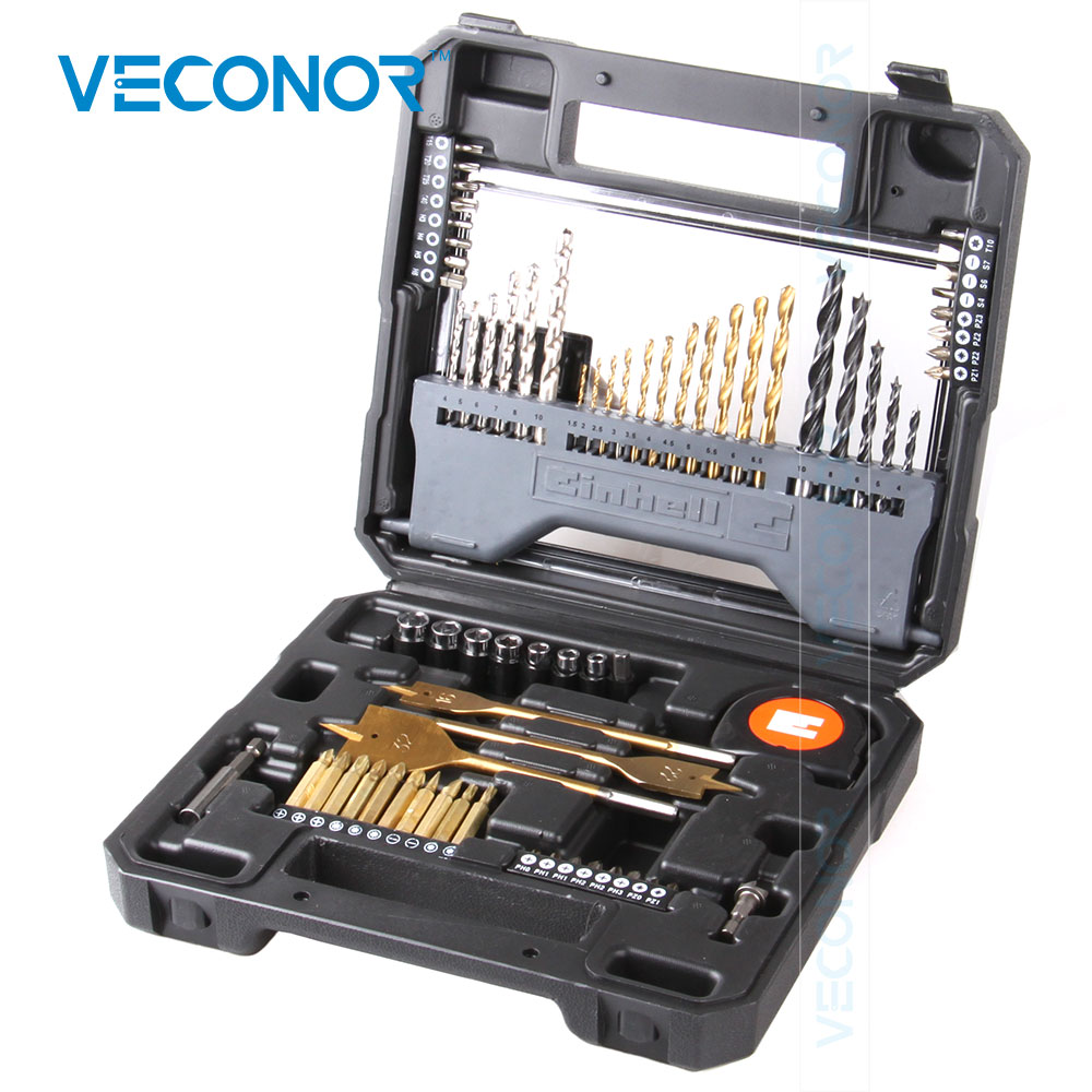 Veconor 70PCS Combination Twist Drill Concrete Drill Screwdriver Bits Sockets Kit Set Abundant Bits For Daily Use high quality screwdriver combination set unique telescopic function