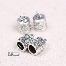 Onwear 20 pcs dia 5.7mm de prata antigo bead tampas de metal para fazer jóias colar de pingente diy achados conector