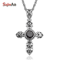 Szjinao fashion Edward authentic explosion 100% pure sterling silver filigree cross pendant wholesale